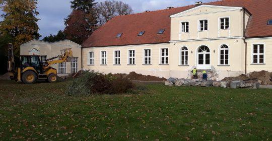 In Kulice werden im Rahmen des Projekts INT 161 Kulice – Schwedt Renovierungsarbeiten durchgeführt