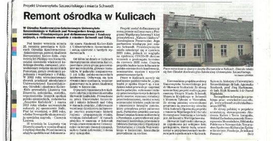 Remont ośrodka w Kulicach oczami Kuriera Szczecińskiego